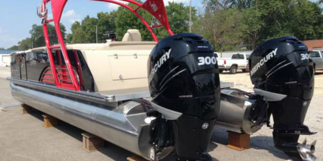 Custom: 75 mph. pontoon