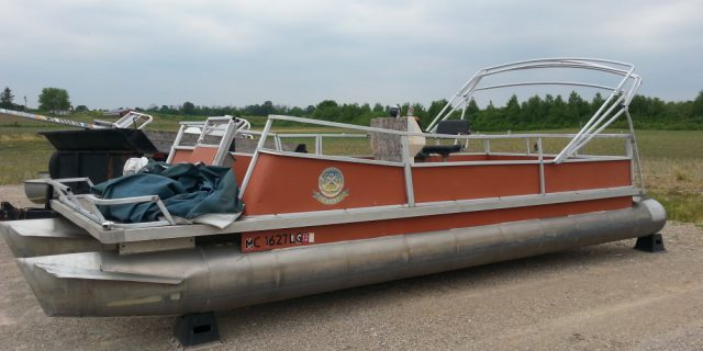 Older 24′ deck only (No Motor) $2900