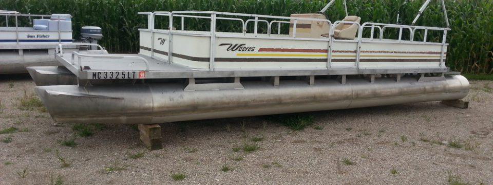 Older 24′ Pontoon (No Motor) $3200