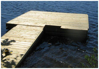 Pontoon docks, Swim Rafts and Platforms