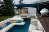 1999 24′ Riviera Cruiser Pontoon with 40 hp. Mercury (2-stroke)