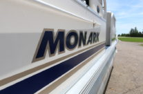 1998 24′ Monark Pontoon with 60hp. Mariner Motor