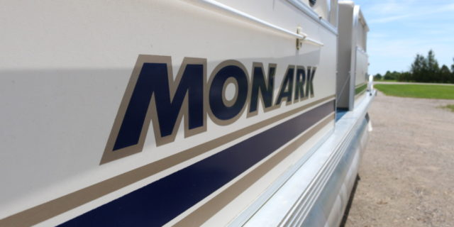 1998 24′ Monark Pontoon with 60hp. Mariner Motor