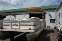 2003 22′ Marsh Brothers Pontoon with 50 hp. 2-stroke