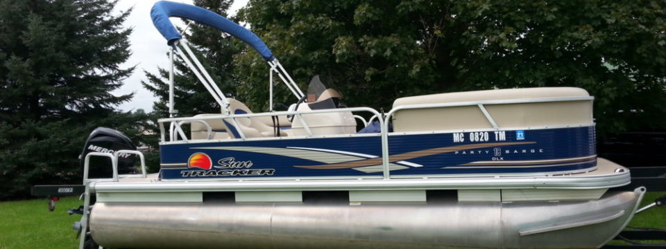 2012 18′ Sun Tracker Pontoon with a 40hp. Mercury 4-Stroke