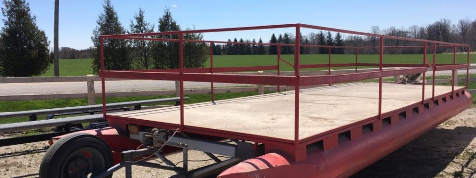 28′ of (All Steel pontoons) and Trailer $4900