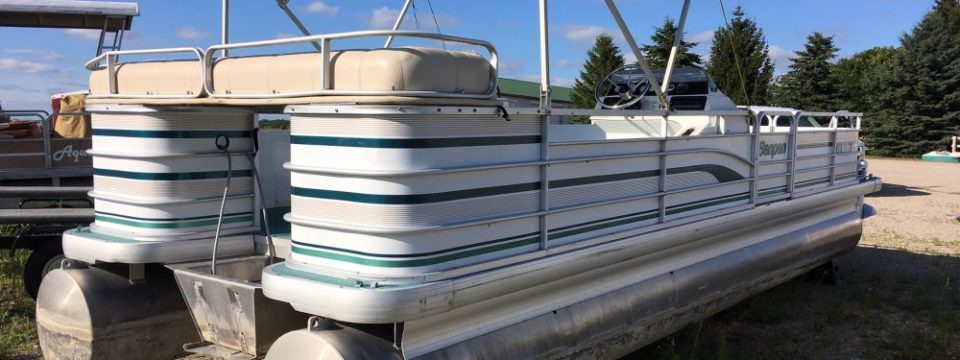 1994 25′ Sanpan Pontoon , no motor, Deck only