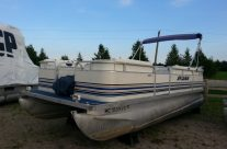 1999 20′ Sylvan Pontoon with 70hp Suzuki
